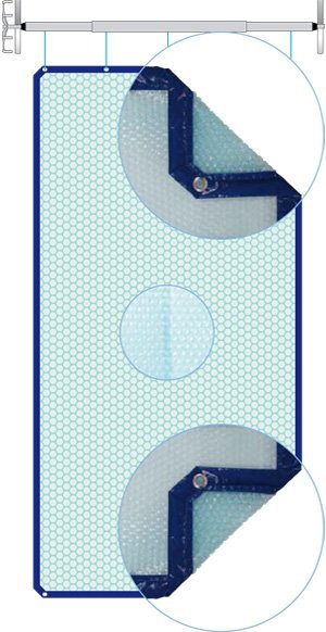 Ηλιακό (ισοθερμικό) κάλυμμα πισίνας