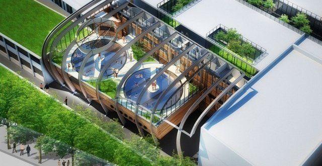 "Royat : Η πισίνα ""green wave"""